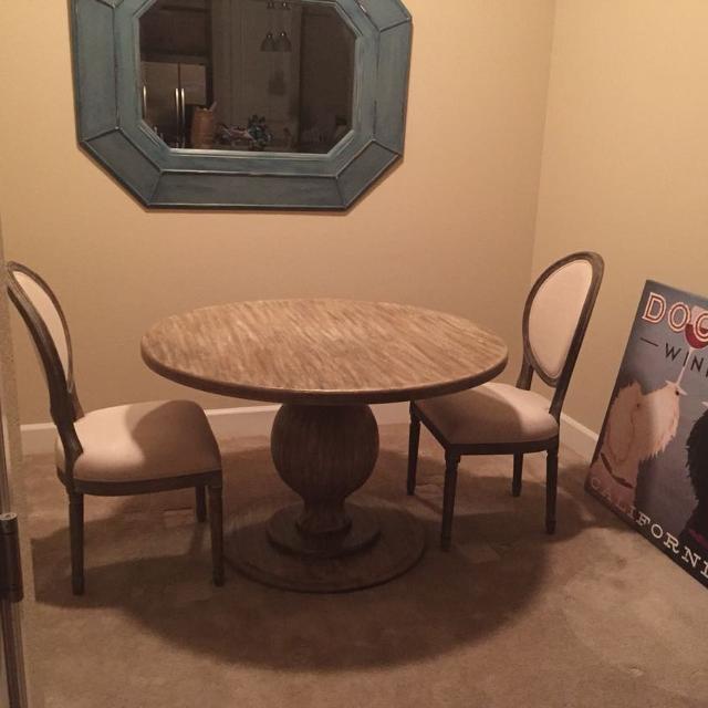 World Market Round Bianca Table
