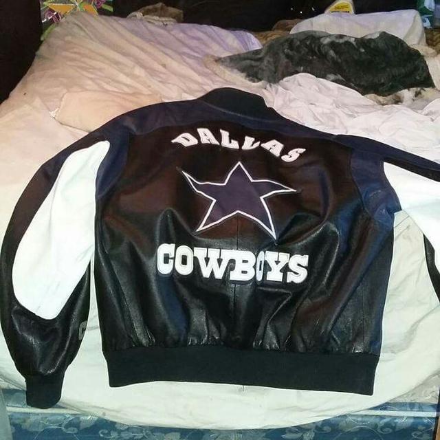 size 40 bf194 c38f2 Dallas Cowboys Leather Jacket