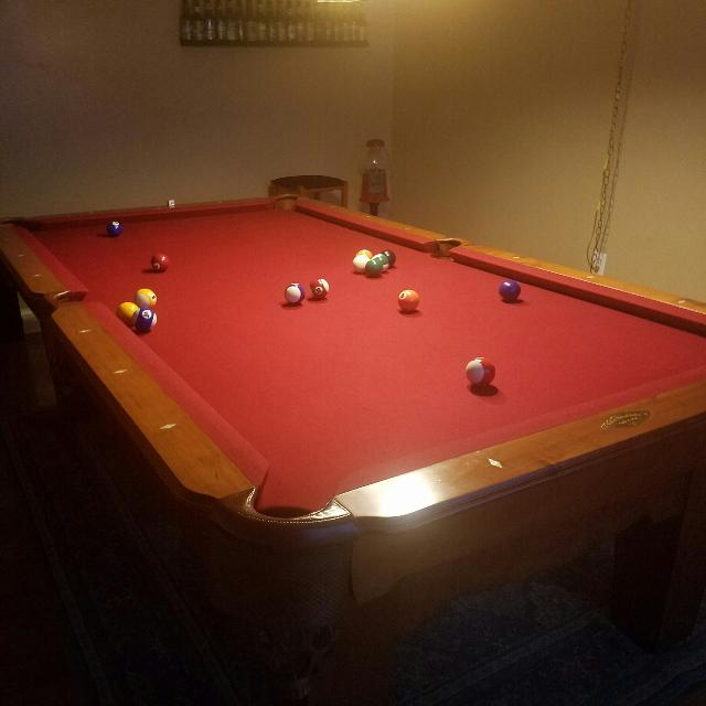 Best Ft Proline Slate Pool Table For Sale In University Orange - Proline pool table