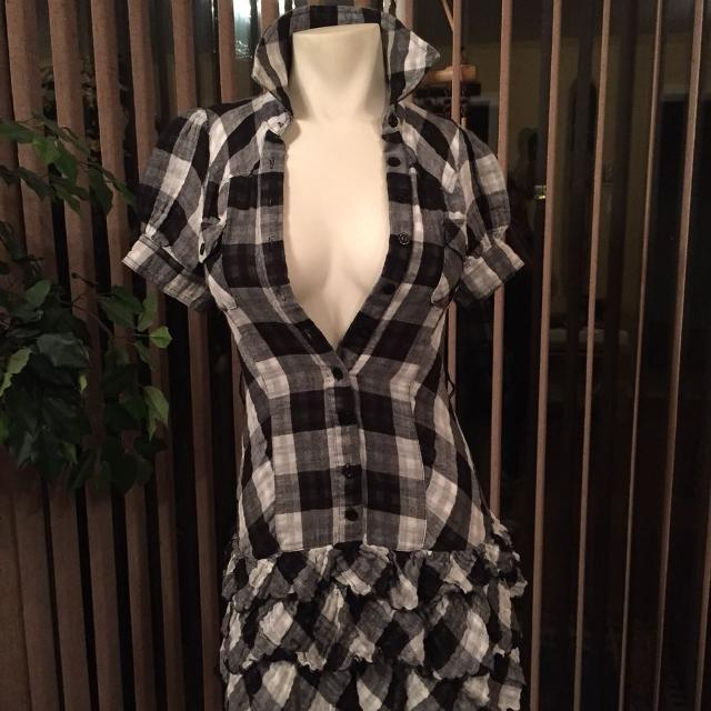 6280da9905c9e Best Black And White Checkered Mini Dress Looks Great With Or Without  Leggings for sale in Dollard-Des Ormeaux, Quebec for 2019