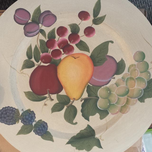 Home interiors fruit plate