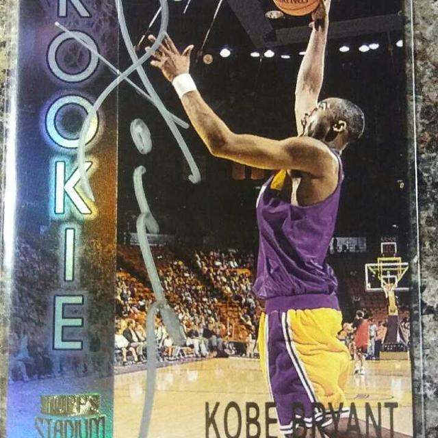 Kobe Bryant Autograph Rookie Card