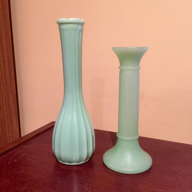 Find More Vintage Jadeite Vaseline Glass Vases For Sale At Up To