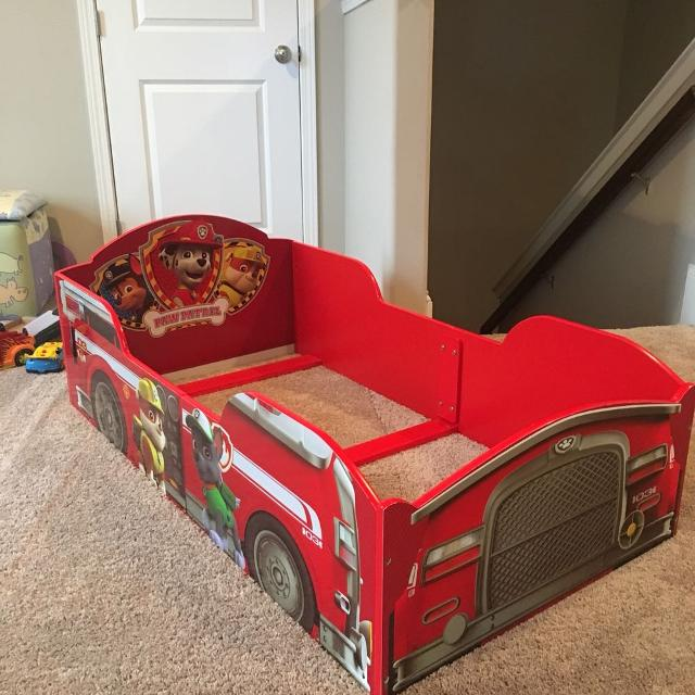 find more paw patrol marshall fire truck toddler bed for sale at up