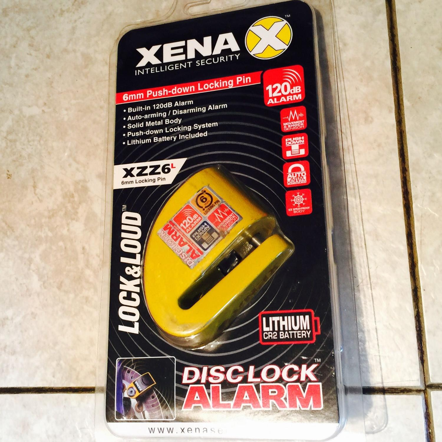 XENA XZZ6L disc lock alarm for scooter/motorcycle