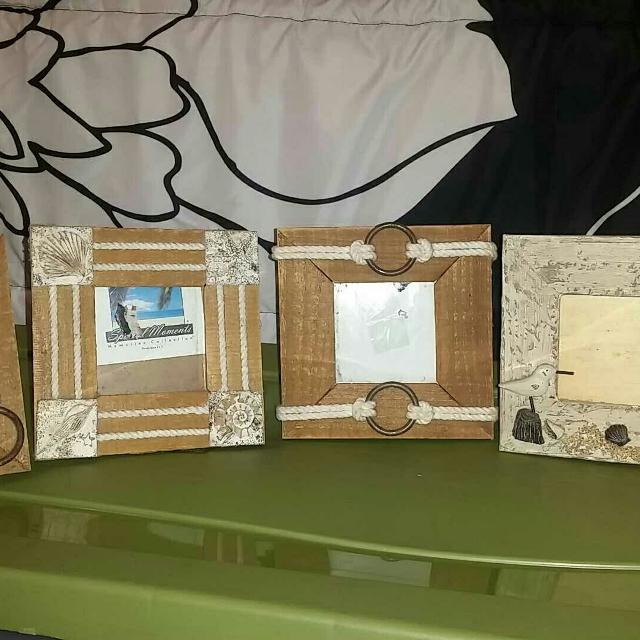 3x3 Nautical Frames- Set of 4
