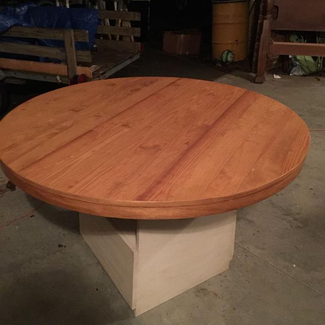 Best Solid Wood Handmade Round Kitchen Table Price Drop 150 Firm For In Sumter South Carolina 2019