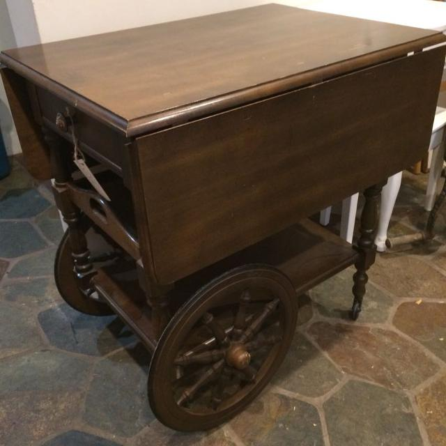 Antique Vintage Tea Cart With Serving Tray