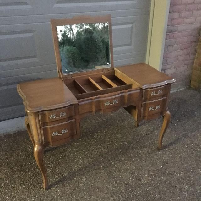 Find More Antique Vanity Dresser With Flip Up Mirror Beautiful