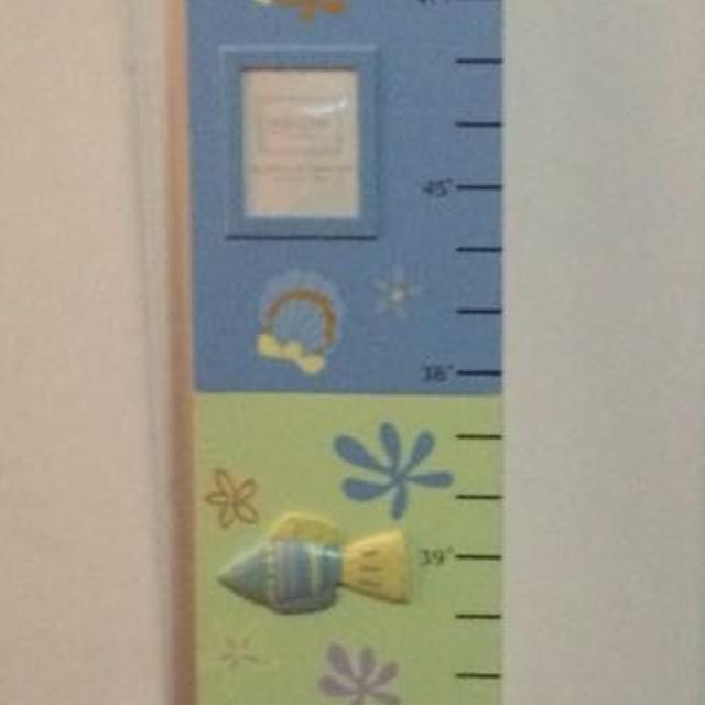 Brand New Wooden Growth Chart With Photo Slots