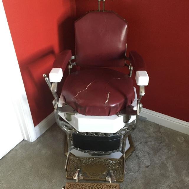 Antique Barber Chair by Koken - $1600.00 OBO - Best Antique Barber Chair By Koken - $1600.00 Obo For Sale In Elk