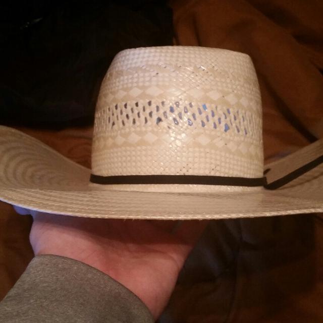 053b100fe American hat company 7 3/8s straw cowboy hat