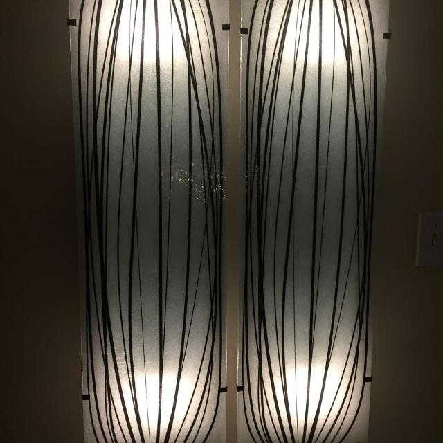 Flat Wall Light Fixture Complete Very Cool Glass Panel Gyllen
