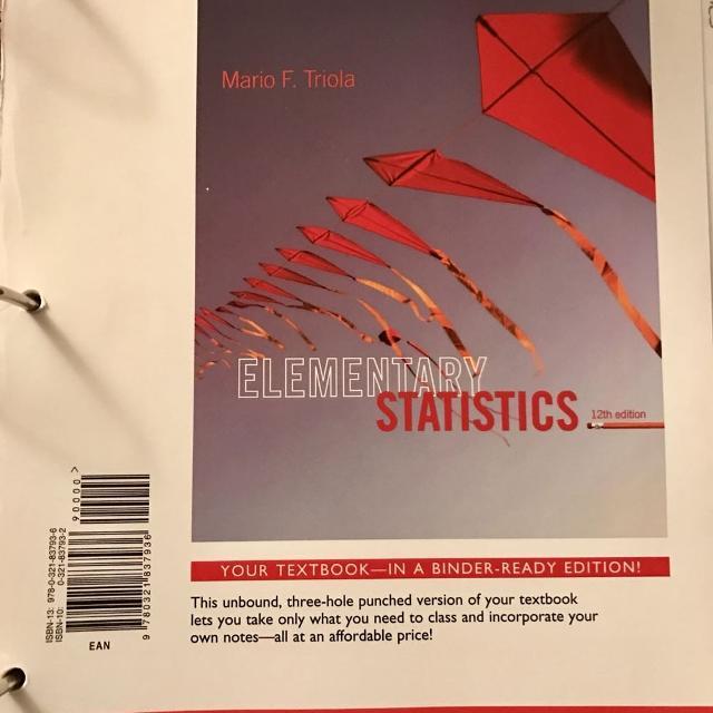 Vol State Math 1530 Probability and Statistics