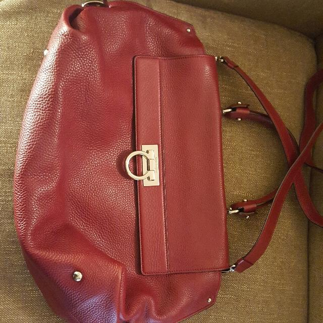 Best Salvatore Ferragamo Sofia Large Red Bag for sale in Vancouver ... 9398c0be8fa52