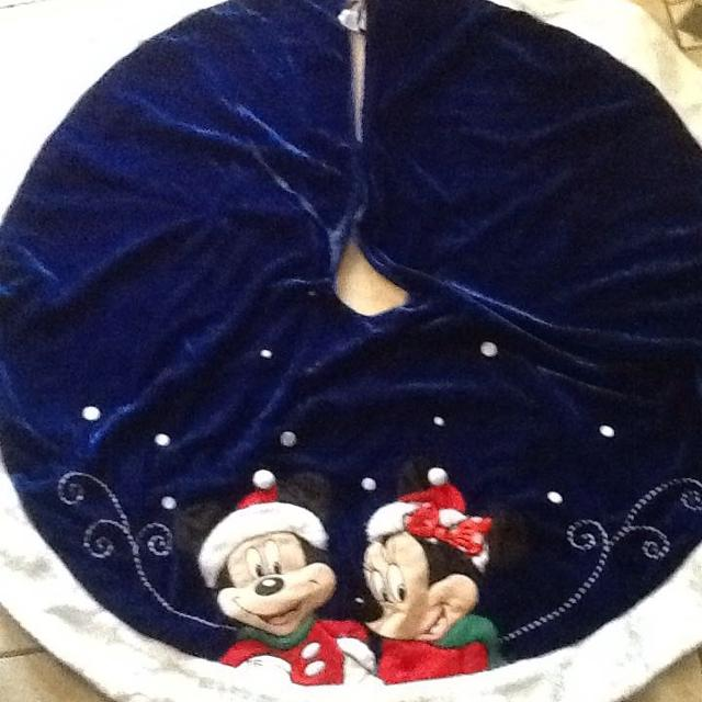 Find More New Mickey Mouse Minnie Mouse Blue Christmas Tree Skirt