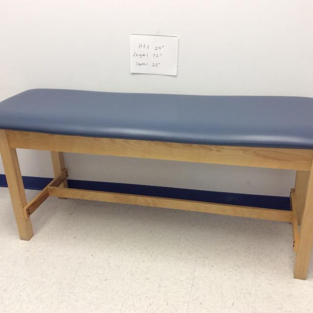 Exam Table For Medical Office Excellent Condition Solid Wood And Padded Top Has