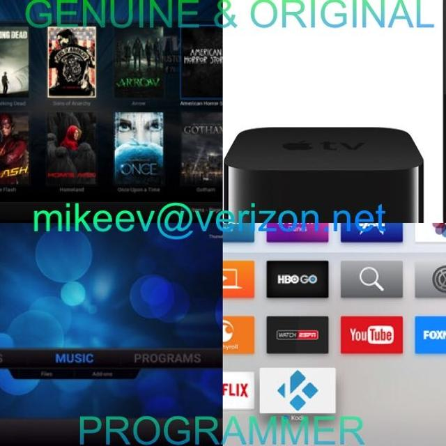 Apple TV 4 with Kodi 32GB UNLOCKED FULLY LOADED FREE MOVIES TV PAY PER VIEW
