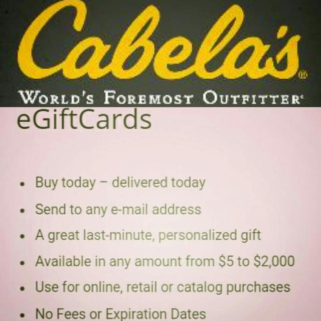 Best Cabela\'s Electronic Gift Certificates for sale in Calgary ...