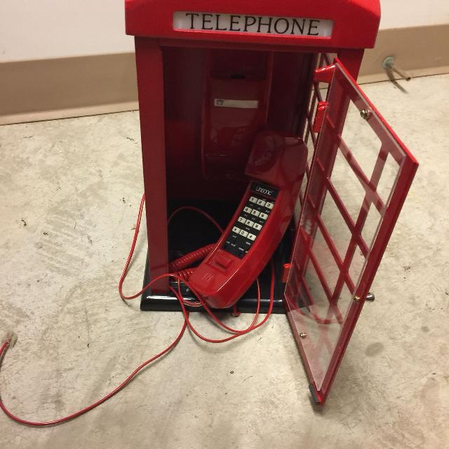 Old phone booth phone
