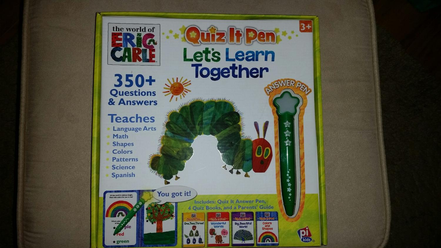 EUC Eric Carle Quiz it Pen Let's Learn Together
