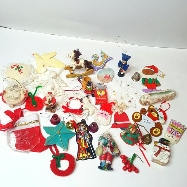 Lot Of Rare Vintage Christmas Ornaments