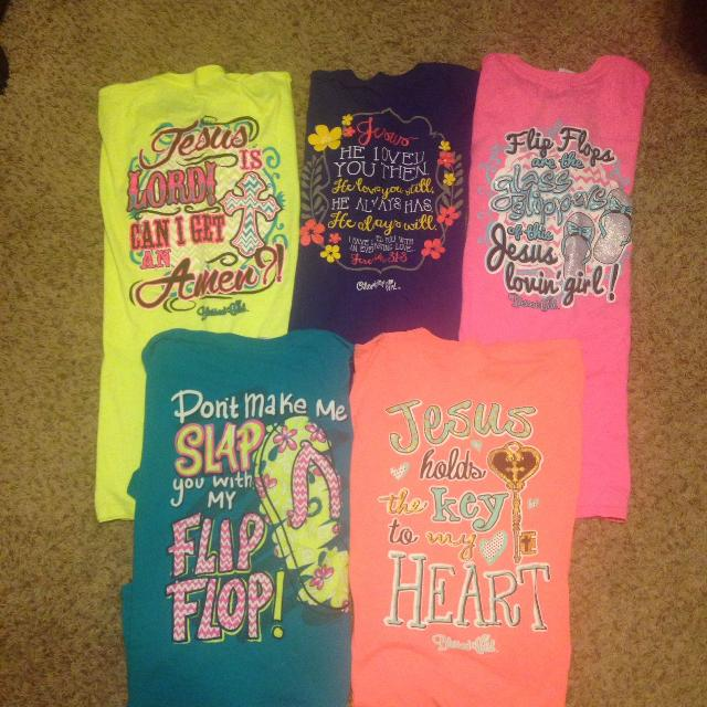 7d2e3873b1f0a A Lot of Blessed Girl & Girly Girl Shirts Lg
