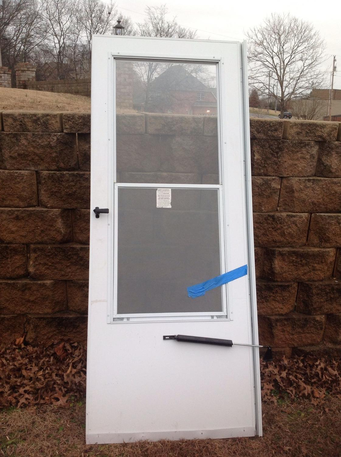 Find More Anderson Emco White Storm Door 30x80 In Excellent Used