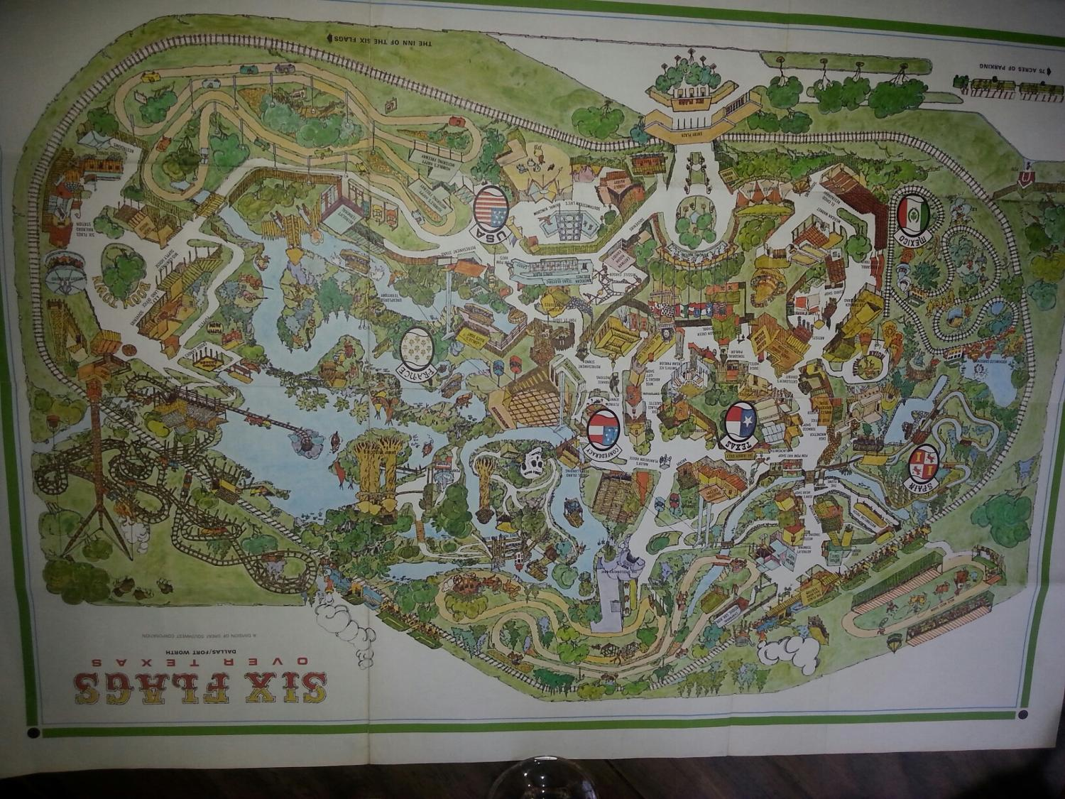 Best 1965 Map Six Flags Over Texas For Sale In Brazoria County
