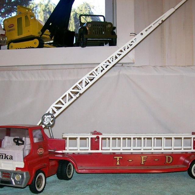 ca0b72c65 Vintage metal toy trucks, tractors, etc. - perfect for Christmas!