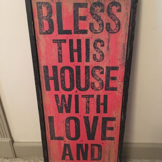 Bless This House With Love And Laughter Wooden Sign