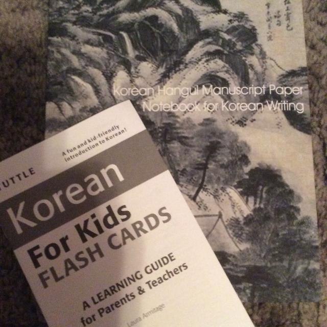 Korean manuscript paper and flash card books