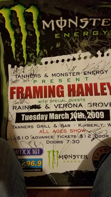 Best Signed Poster Framing Hanley, Rains, Verona Grove for sale in ...