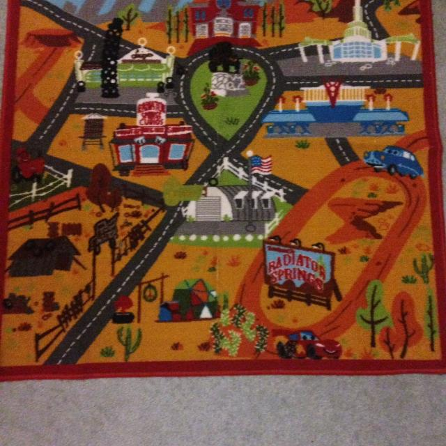 Best Disney Pixar Cars Playmat Carpet Radiator Springs The