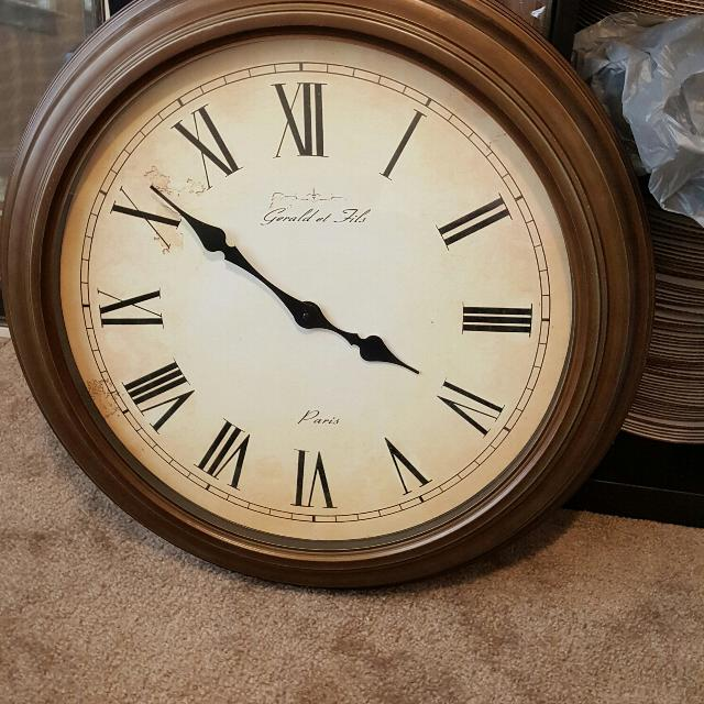 Best 24 Inch Wall Clock From Fortunoff For Sale In Huntersville