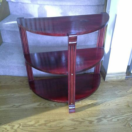 Looking for 3 shelf half circle table... for sale  Canada