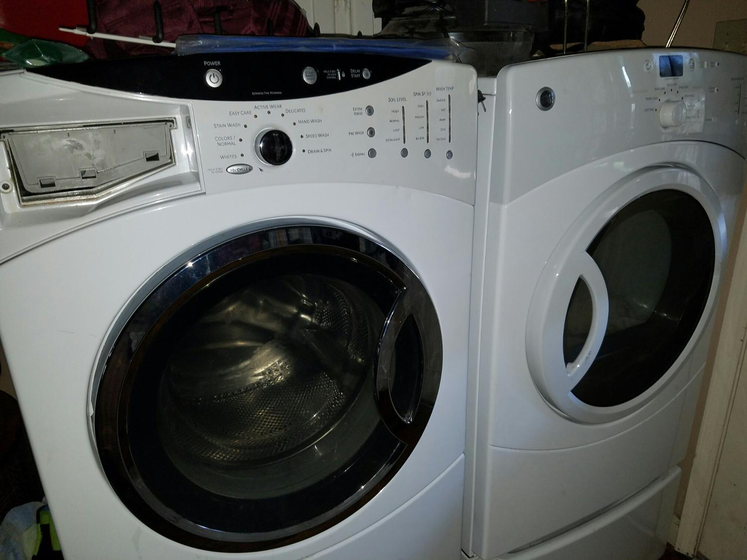 Matching GE front load WASHER & DRYER