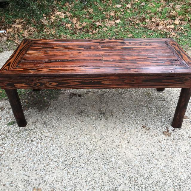 Rustic Homemade Wooden Coffee Table