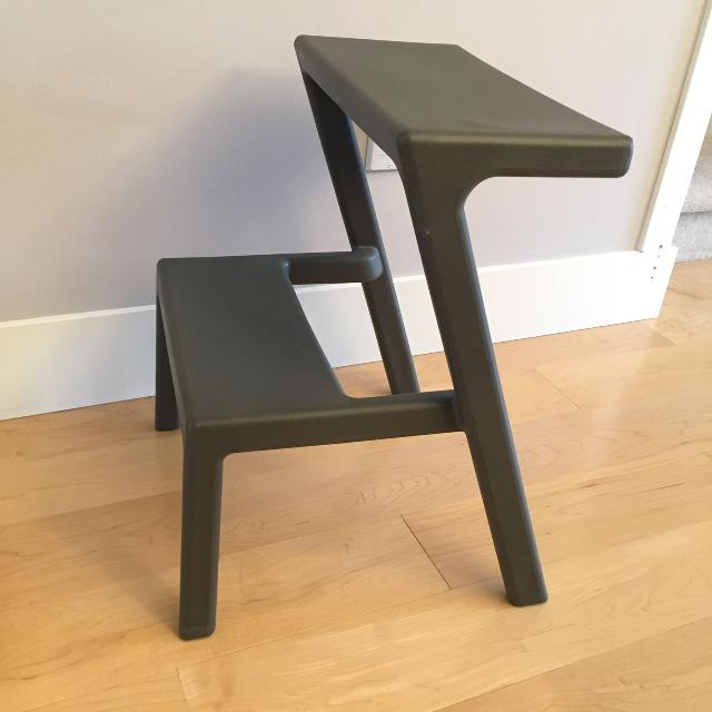 Ikea Masterby Step Stool Euc Same As Pic But Charcoal Grey Bs
