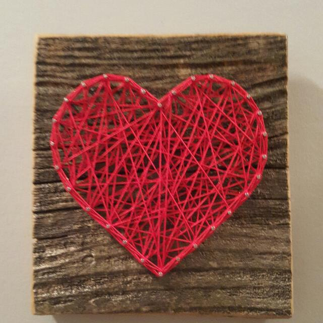 Find more nail string art heart on barn board 10 for sale at up to 90 off - String art modele ...