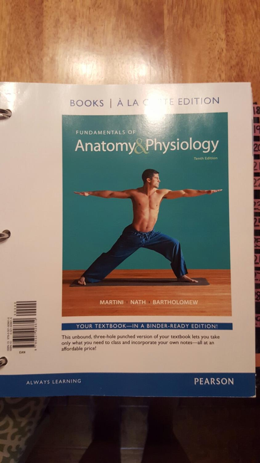 Find more Anatomy & Physiology 1&2 Textbook (binder Book) for sale ...