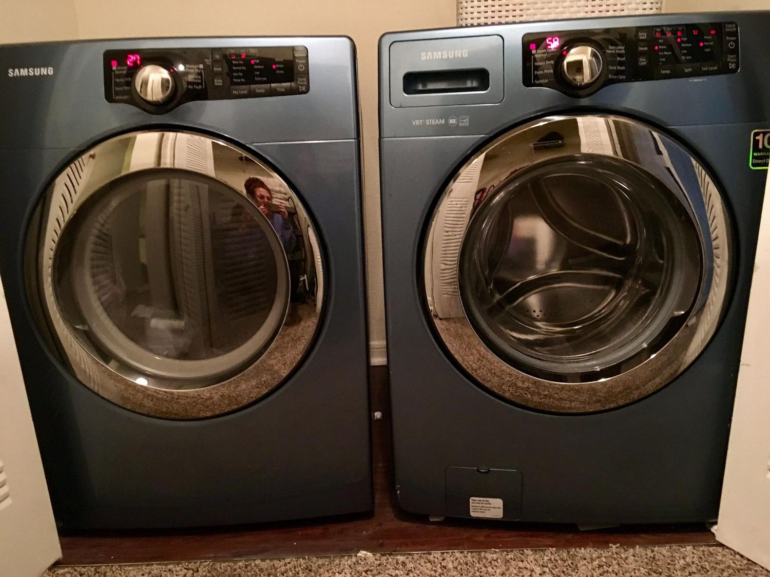 Find More Samsung Blue Washer And Dryer Set For Sale At Up