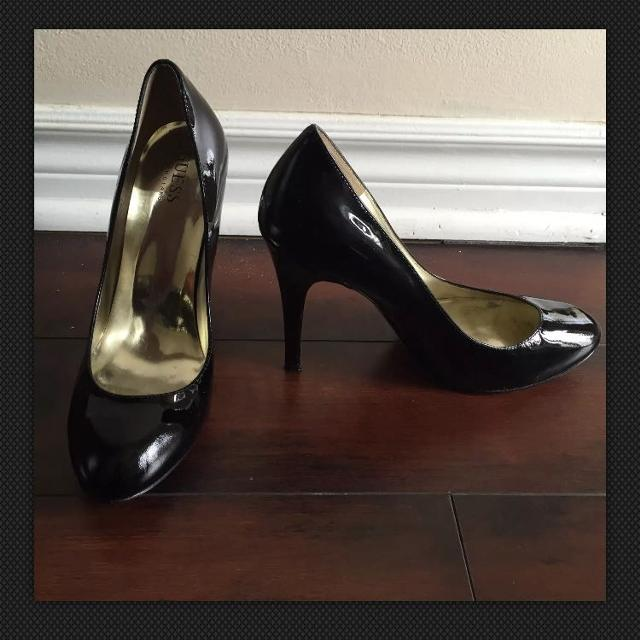 no sale tax the sale of shoes where to buy GUESS By Marciano 'Drifter' Black Patent Pumps Sz 8.5M