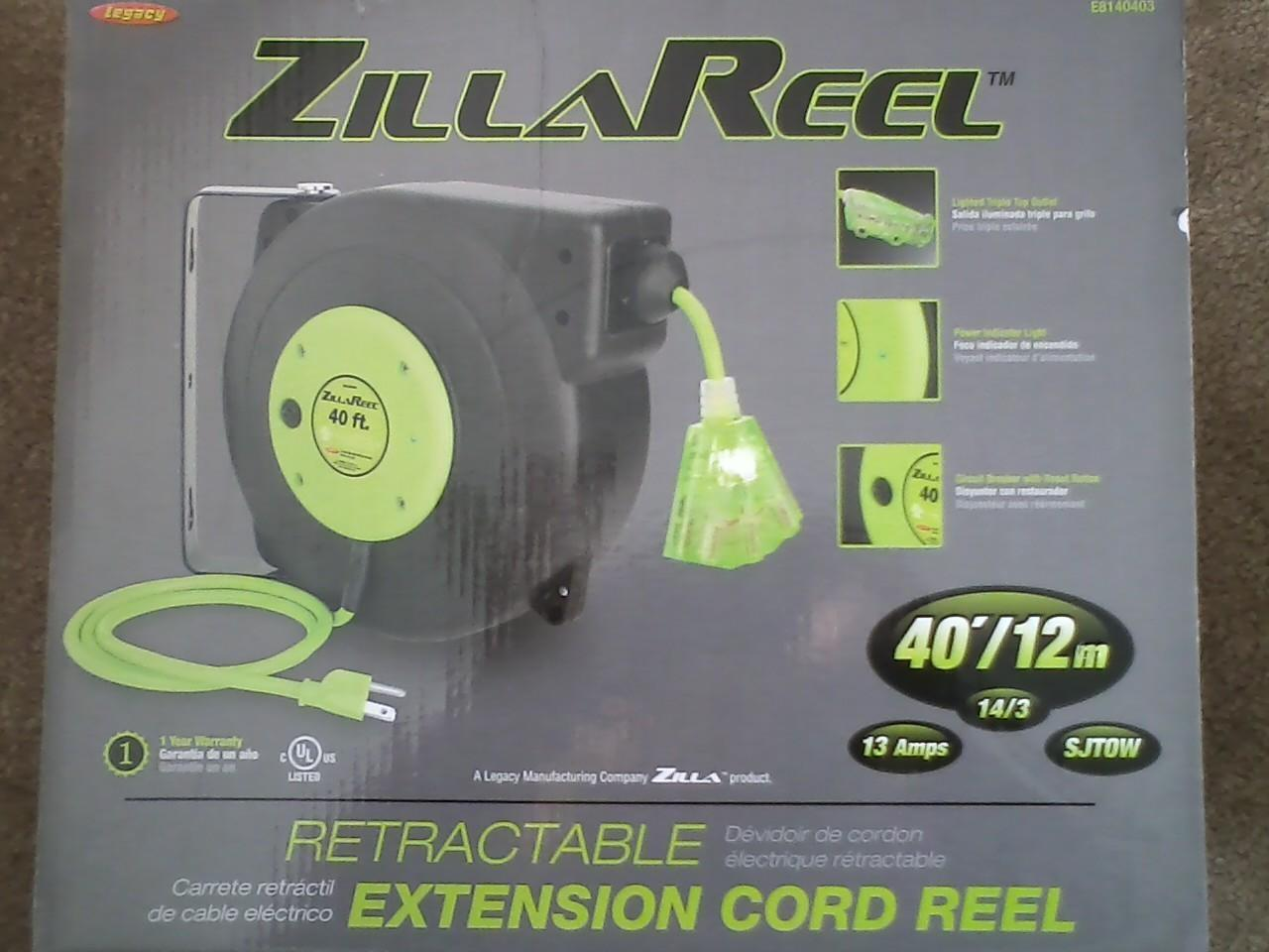 Find More Zillareel Retractable Extension Cord Reel For Sale At Up W Circuit Breaker To 90 Off