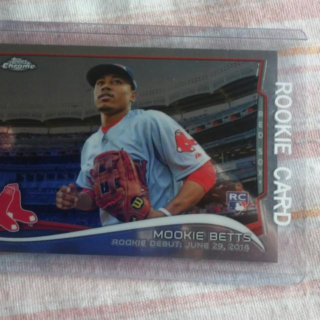 Mookie Betts Topps Chrome Rookie Card