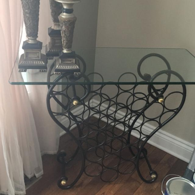 Find More Bombay Wine Rack Console With Glass Top For Sale At Up To