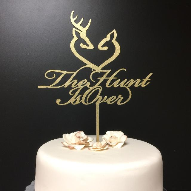 Best The Hunt Is Over Wedding Cake Topper For Sale In Calgary