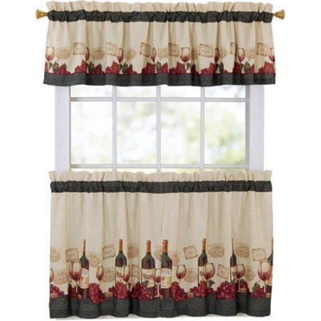 Wine Bottle Kitchen Curtains