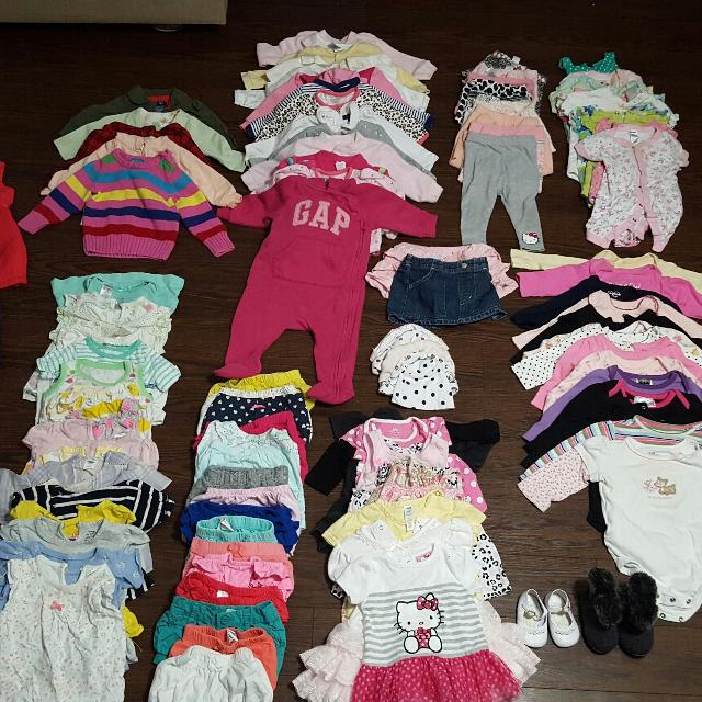 364f82215e4 Find more Gently Used Baby Girl Clothes Size 3-12 Months     50 ...