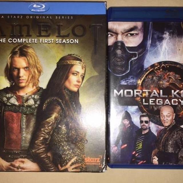 camelot season 1 and mortal kombat legacy blu-ray